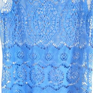 Ralph Lauren Swim - Ralph Lauren Blue Netted Cover Up Women's Medium